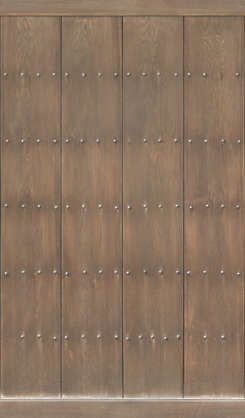 japan wood planks studded reinforced old medieval door temple shrine bare