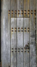 wood armored studded door nails
