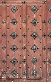 wood armored studded spikes