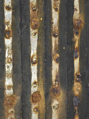 wood armored studded dirty old