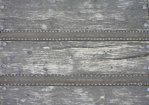 wood planks armored old studded