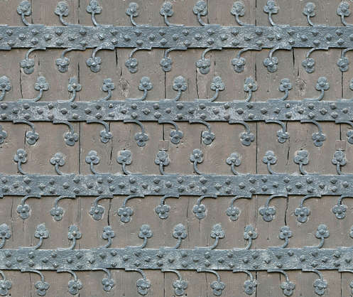 wood studded medieval old
