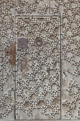 wooden ornate studded spain