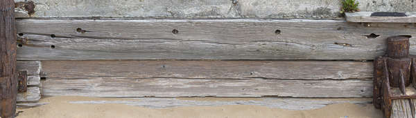 UK wood beams weathered