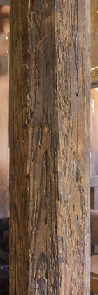 WoodRough0127 - Free Background Texture - wood pillar old ...