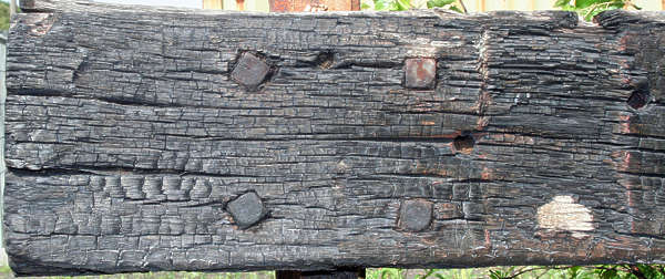 wood rough old beam