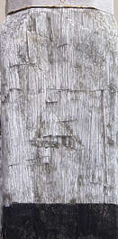 wood old rough chopped grain painted pole