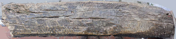 wood beam old worn weathered rough morocco